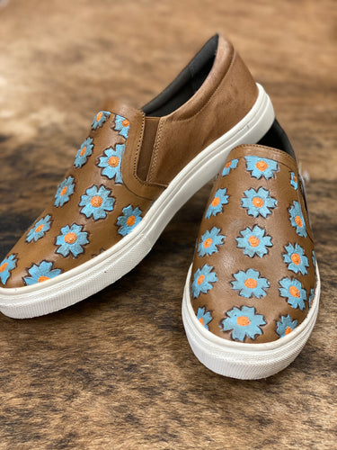 Roper Daisies Leather Slip On