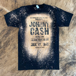 Johnny Cash Bleached Tee