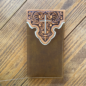 Nocona Embossed Cross Wallet