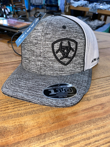 ARIAT GREY WITH BLACK LOGO SNAPBACK