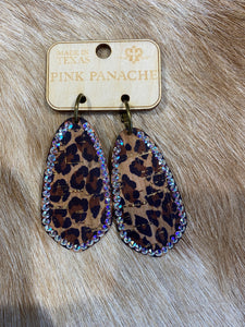 Leather Cheetah Earrings
