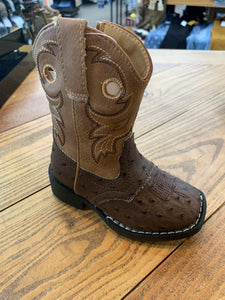 Toddler Daniel Brown Ostrich Boot