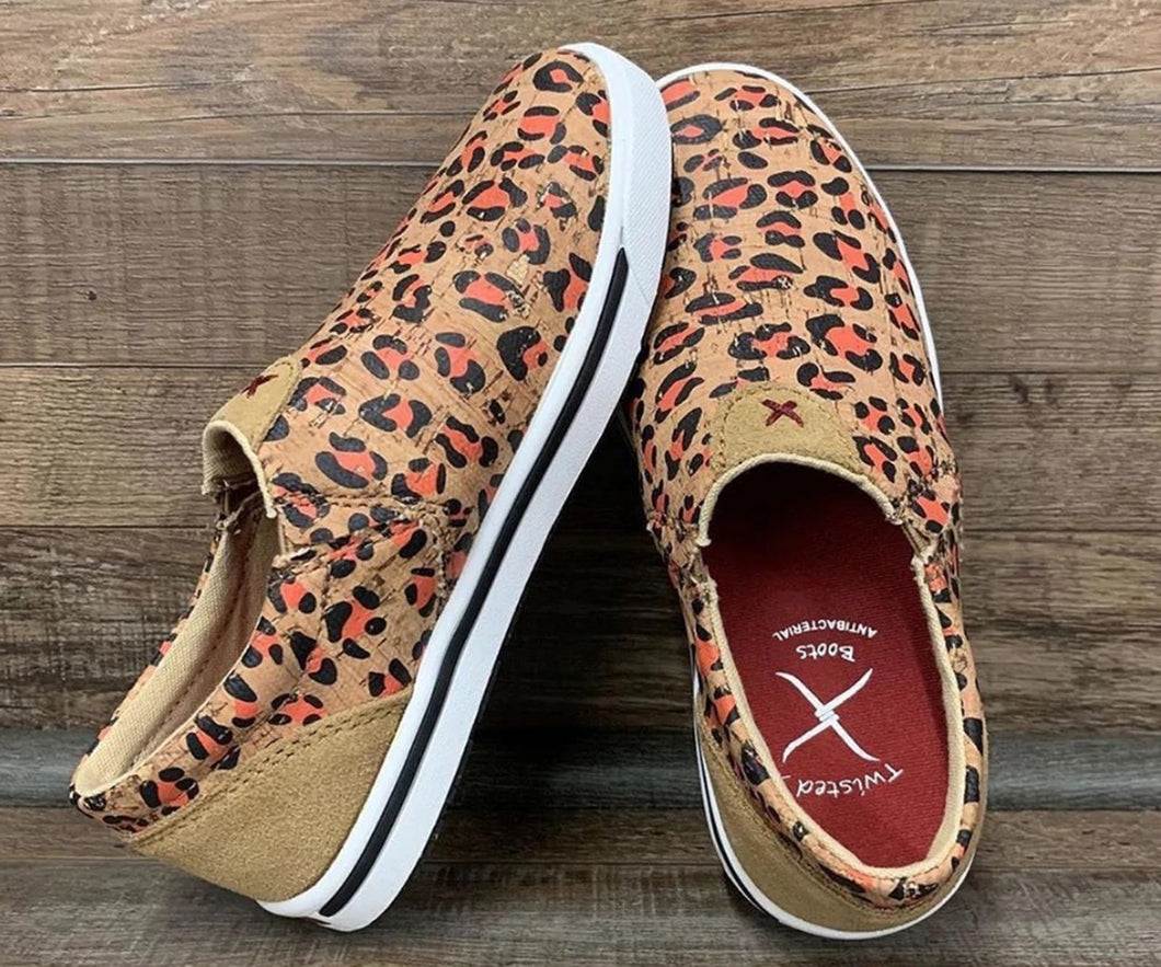 Kid's Leopard Cork Slip On Kicks