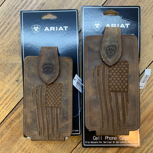 Ariat Flag Leather Phone Holder