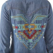 Load image into Gallery viewer, The Denim Aztec Dress