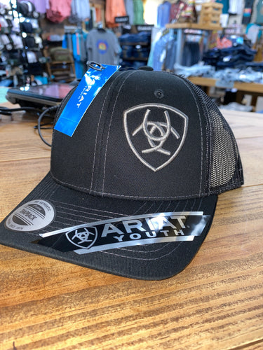 KIDS ARIAT BLACK/GREY SNAPBACK