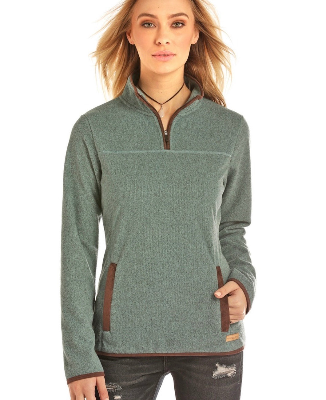 Powder River Teal Pullover