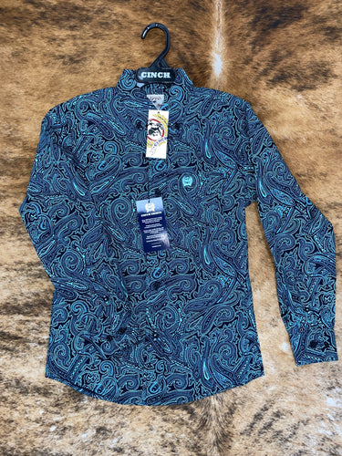 CINCH TODDLER TURQUOISE PAISLEY SHIRT