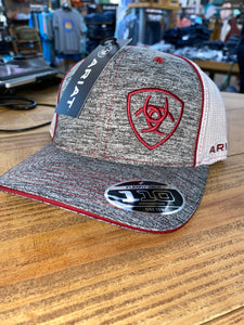 Ariat RED/GREY Snapback