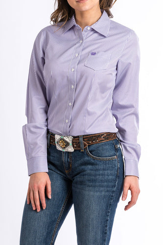 Purple Striped Rodeo Shirt