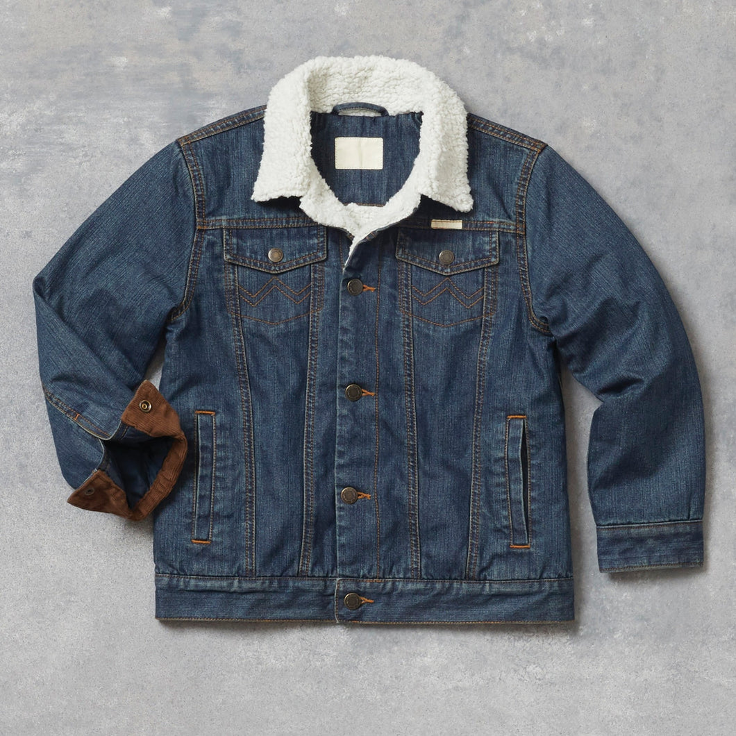 Boy's Sherpa Lined Denim Jacket