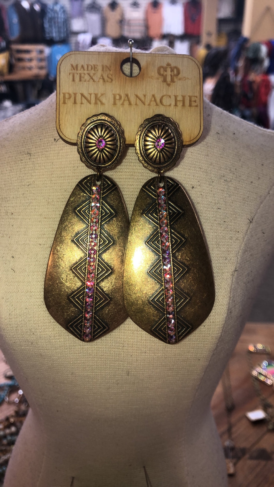 Gold Godess earrings