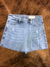 Load image into Gallery viewer, overlap denim skort