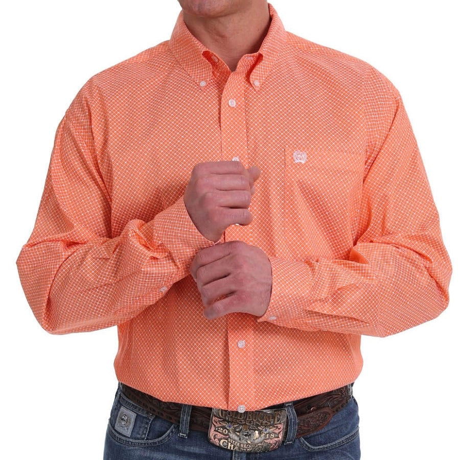 Orange & White Printed Cinch