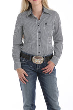 Load image into Gallery viewer, Black With Green Dots Rodeo Shirt