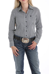 Black With Green Dots Rodeo Shirt