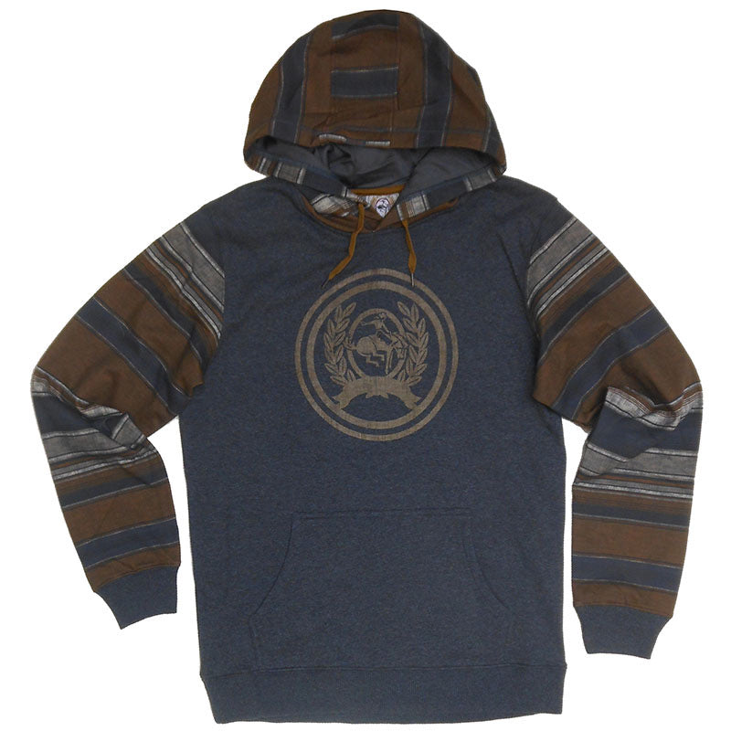 Cinch Color Blocked Heather Charcoal Men's Hoodie