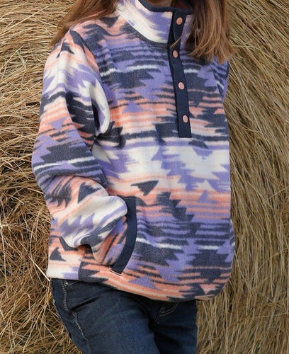 Girl's Aztec Fleece Pullover