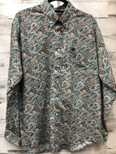 Load image into Gallery viewer, Paisley Cinch Button Up