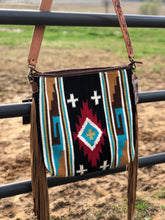 Load image into Gallery viewer, Large Aztec Rug Purse