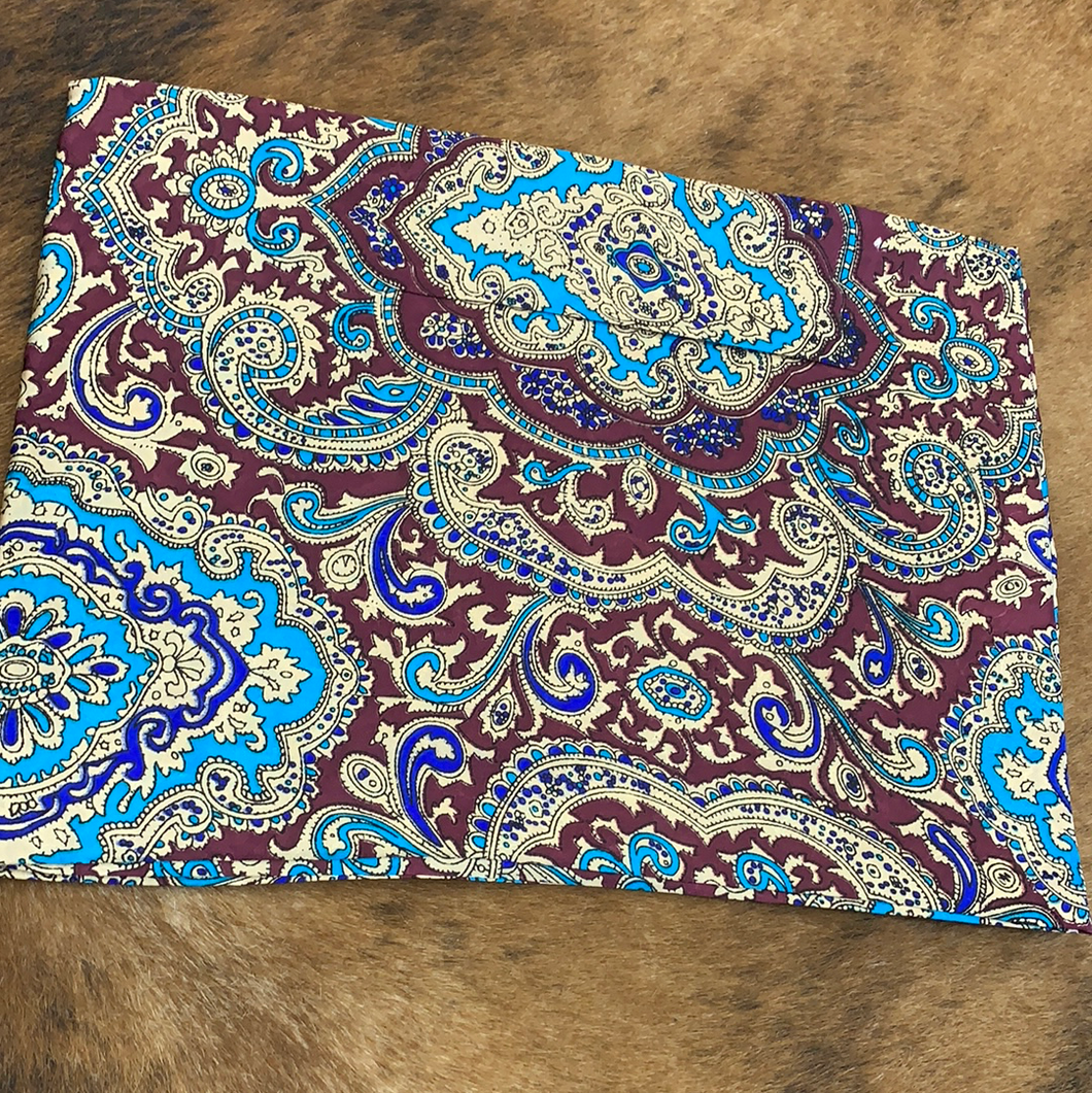 Paisley Red/Gold Wild Rag
