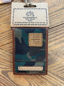 STS Camo Bi-Fold Money Clip Wallet