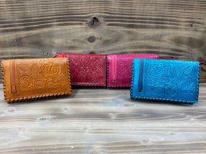 Floral Short Bifold Coin Purse/Wallet