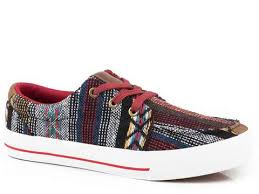 Roper Womens Multi Serape Fabric Angel Fire Sneakers