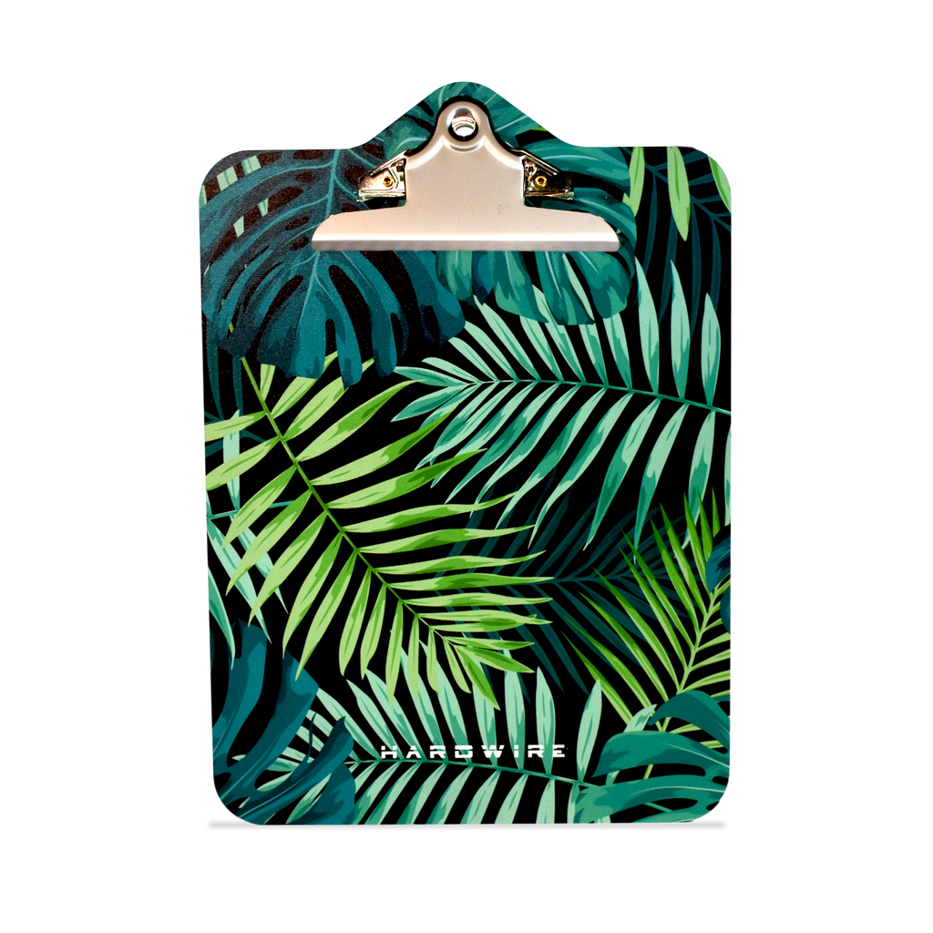 Front side of the Palm Leaves pattern for bulletproof clipboard level IIIA