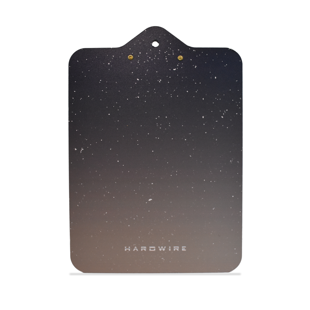 Back of starry night bulletproof clipboard level IIIA
