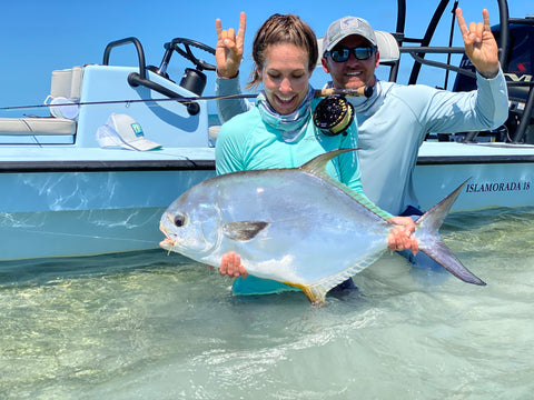 Kat Vallilee with guide Brandon Cyr