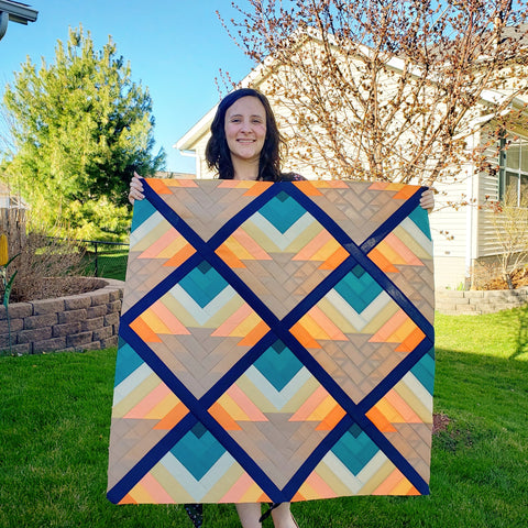 Beach Sunset Quilt and Simone