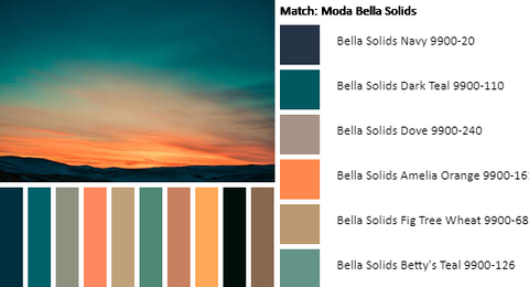 Sunset with Palette