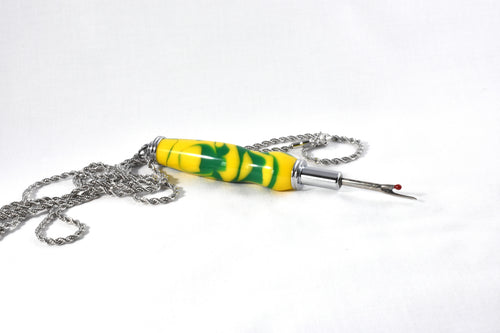 Yellow and Green Necklace Seam Ripper