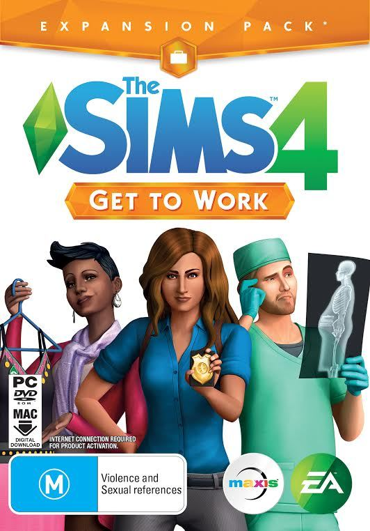 The Sims 4: Get To Work (code in box) - PC Games