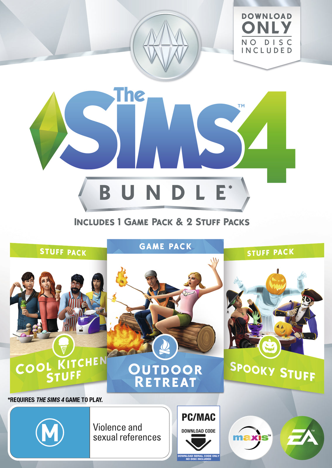 The Sims 4 Bundle Pack 2 (code in box) - PC Games