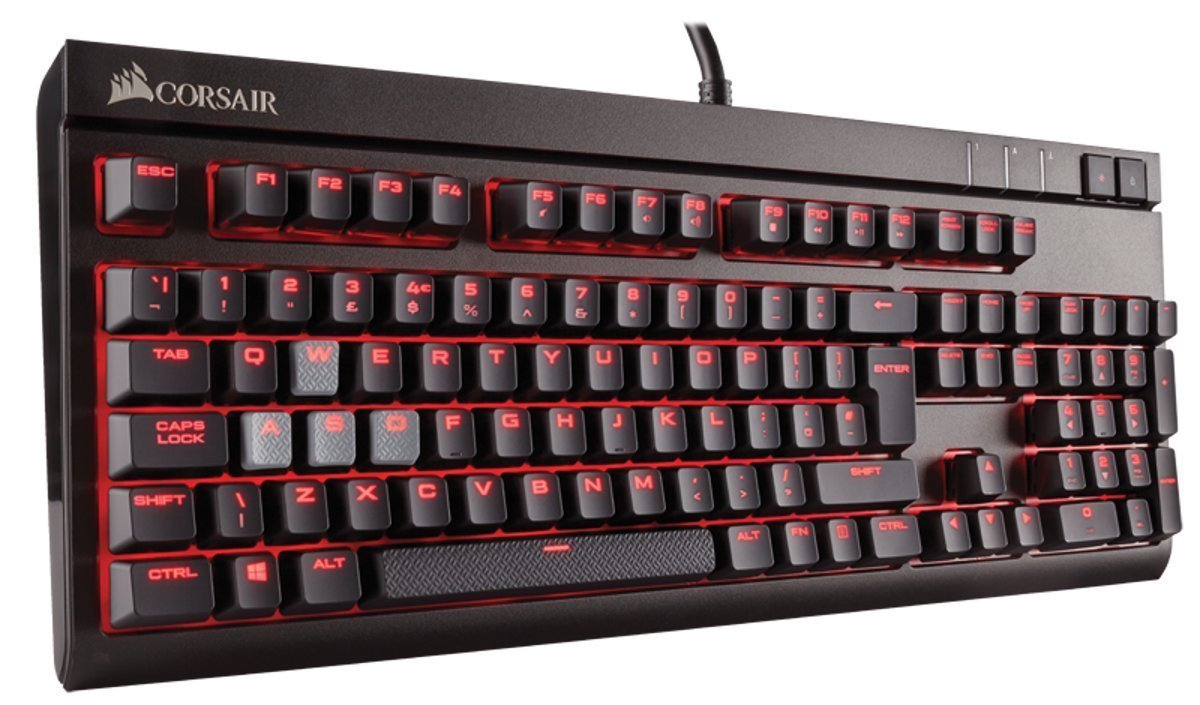 Corsair STRAFE Mechanical Gaming Keyboard (Cherry MX Blue) - PC Games