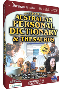 Australian Personal Dictionary and Thesaurus - PC Games