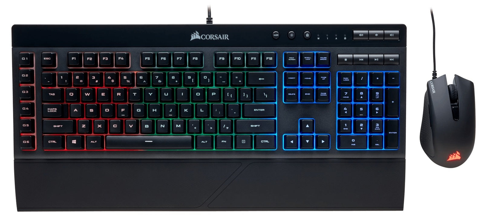 Corsair K55 RGB & Harpoon RGB Gaming Combo - PC Games