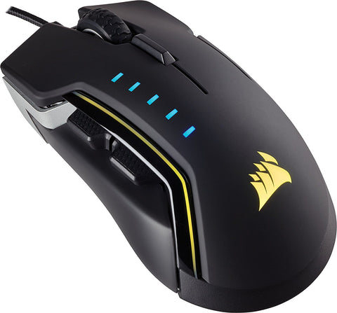 Corsair GLAIVE RGB Gaming Mouse - Aluminium - PC Games