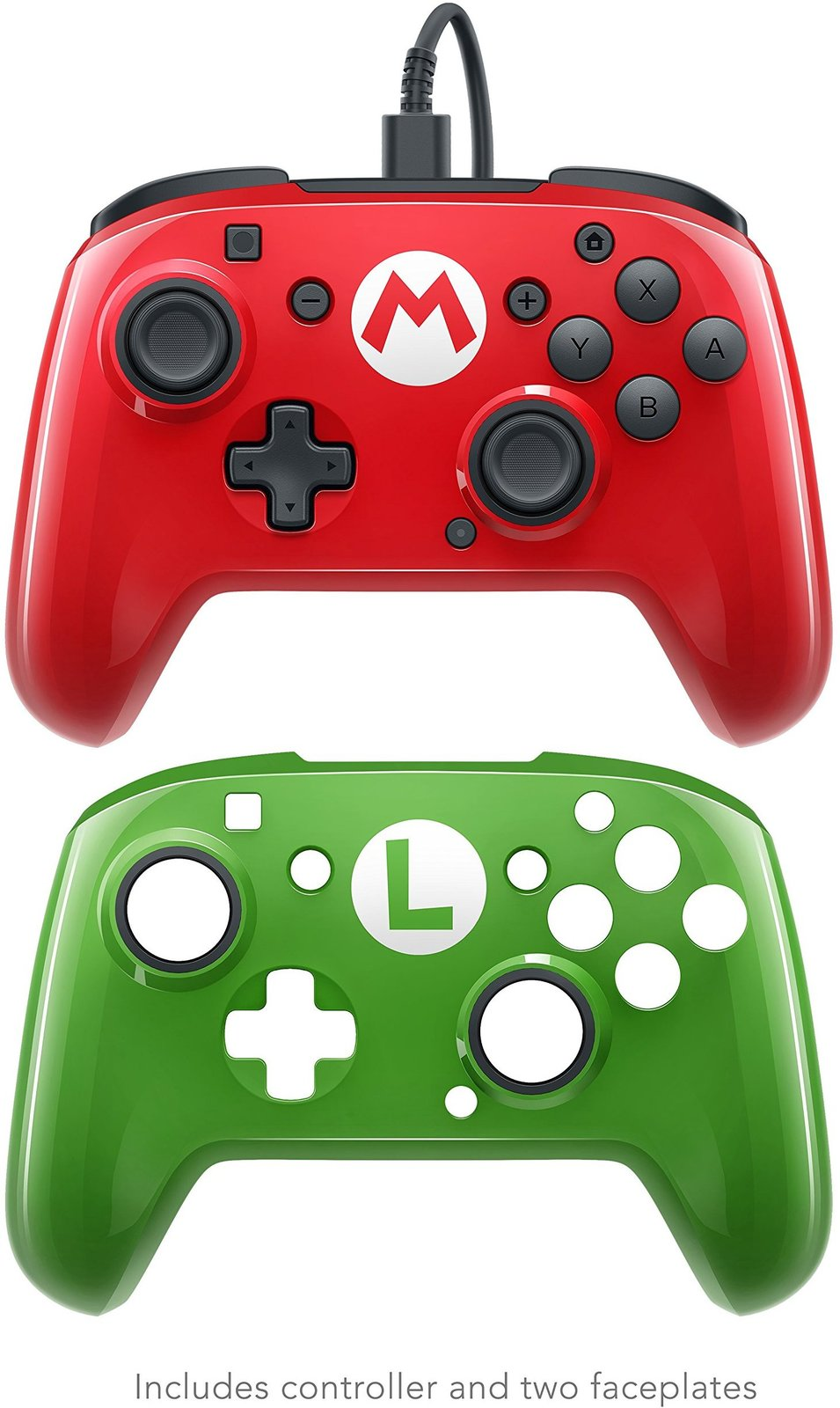 PDP Faceoff Wired Pro Controller for Switch - Mario (2 pack) - Nintendo Switch