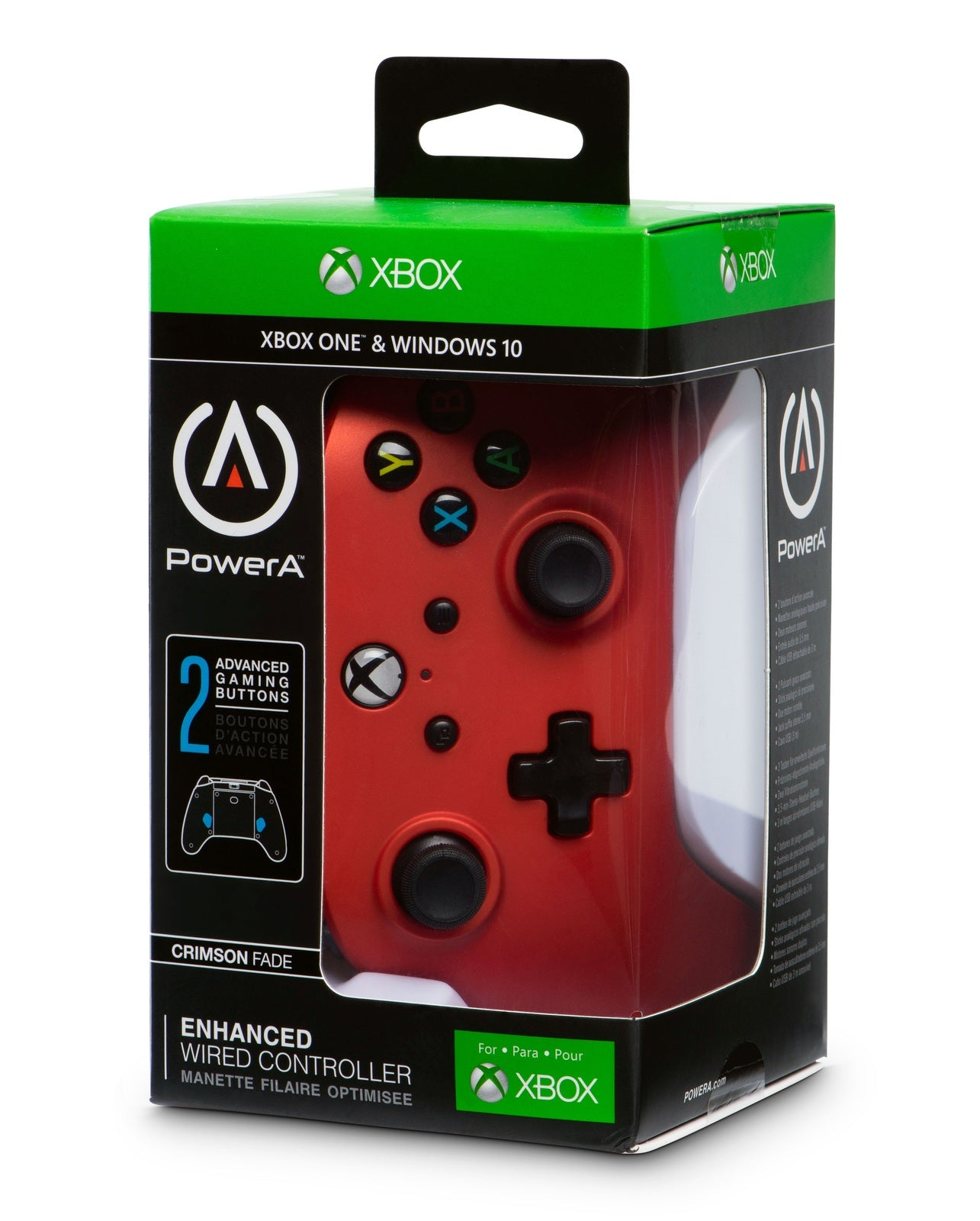 Xbox One Enhanced Wired Controller - Crimson Fade - Xbox One