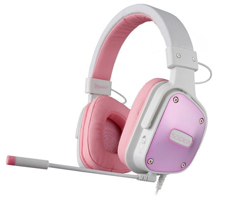 SADES D-Power Gaming Headset (Pink) - PC Games