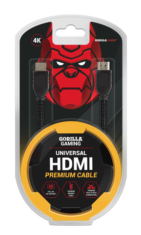 Gorilla Gaming Premium 4K HDMI Cable (v2.0 High Speed) - PS4