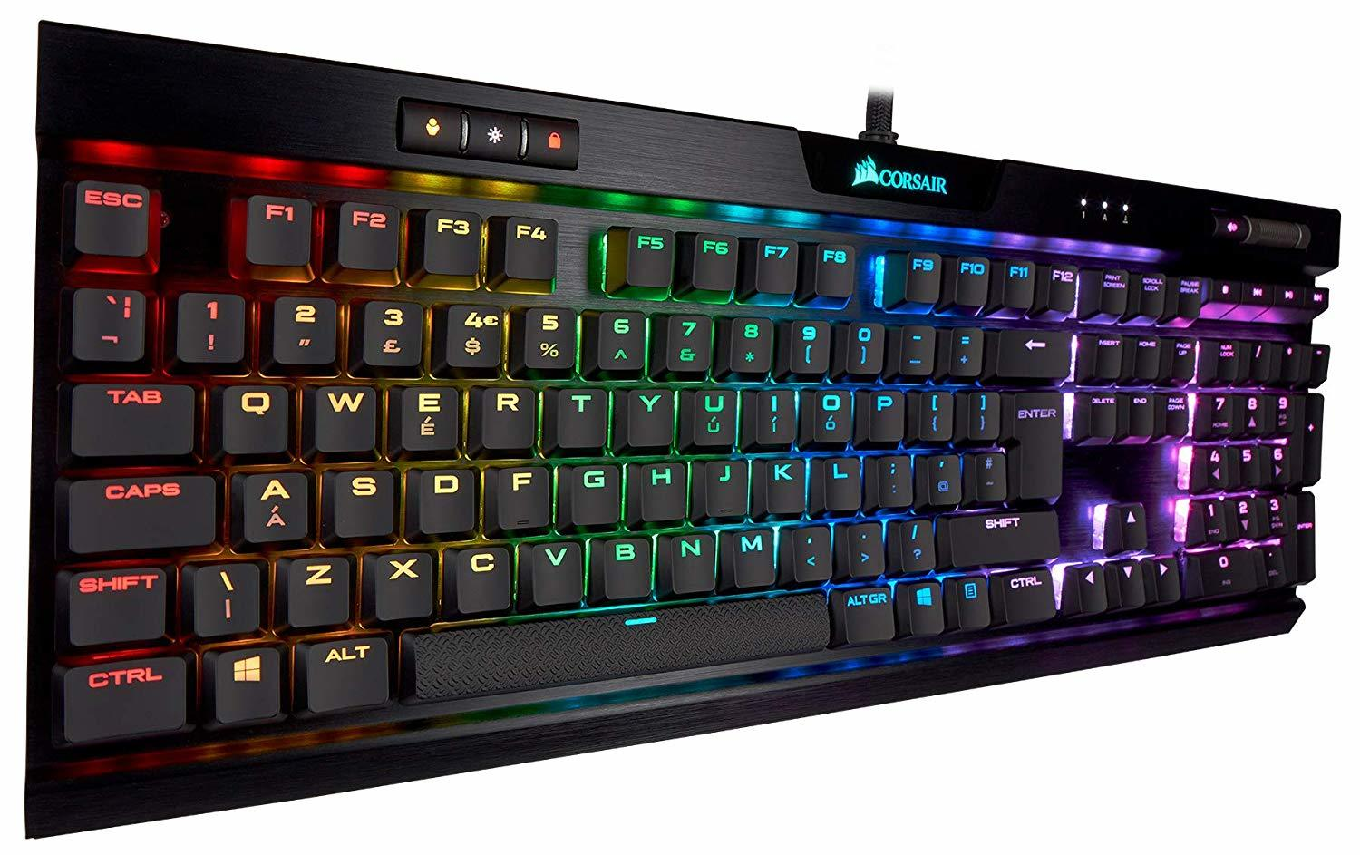 Corsair K70 RGB MK.2 Low Profile Mechanical Gaming Keyboard (Cherry MX Red) - PC Games