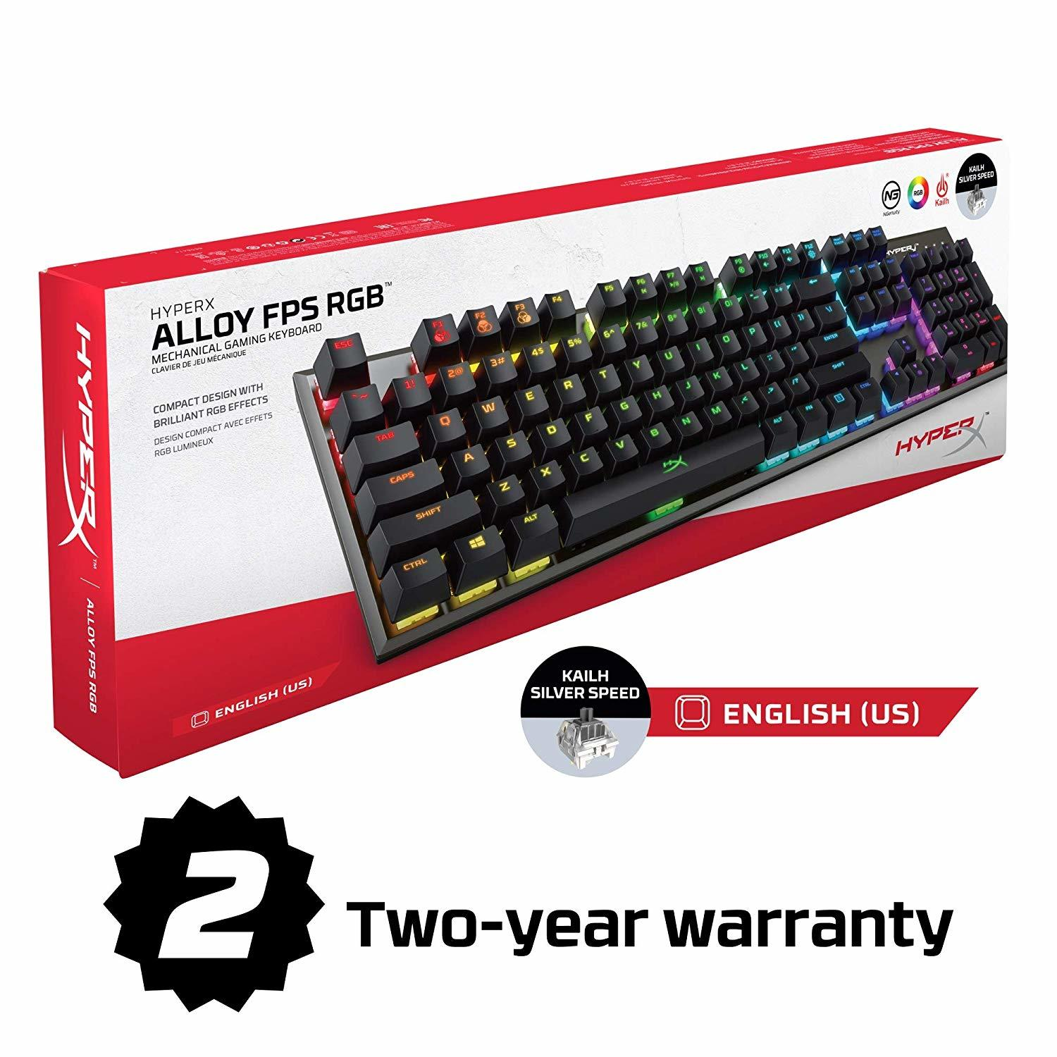 HyperX Alloy FPS RGB Mechanical Gaming Keyboard - PC Games