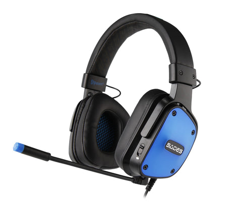 SADES D-Power Gaming Headset (Blue) - PC Games