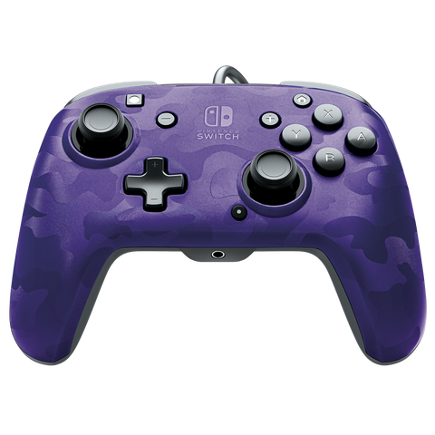 PDP Faceoff Controller Deluxe for Switch - Purple Camo - Nintendo Switch