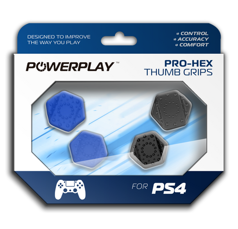 PowerPlay PS4 Pro-Hex Thumb Grips (Blue) - PS4