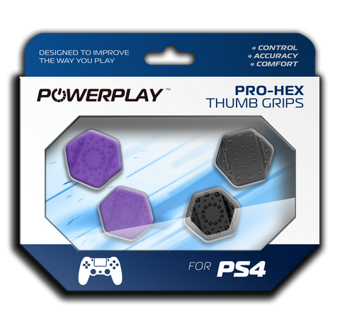 PowerPlay PS4 Pro-Hex Thumb Grips (Purple) - PS4
